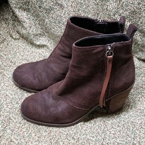 Gently Worn Brown Suede Dolce Vita Booties 6